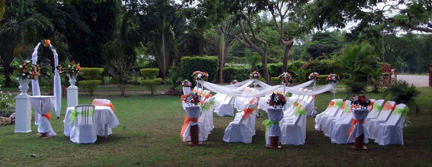 Waterwheel Jamaica Wedding outdoors