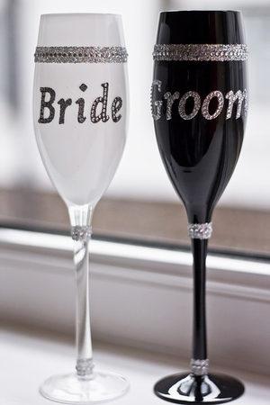 bride groom goblets-450