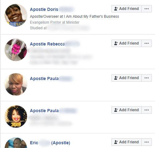 Modern Apostles blurred