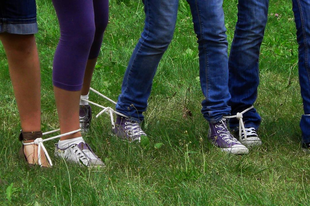 legs tied bind loose