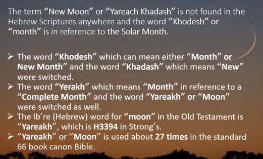 new moon calendar error in hebrew translation