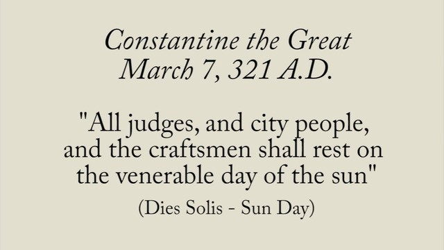 constantine sunday law