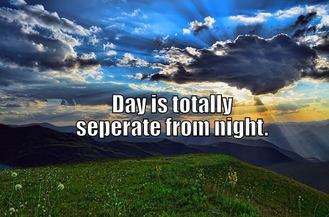 day separate from night