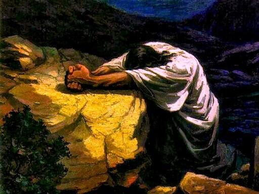 Yahushua-at-night-Praying