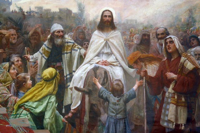 False Messiah Jesus Christ on Donkey