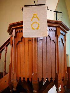 alpha and omega pulpit
