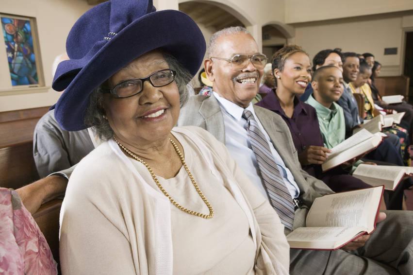 church woman smiling