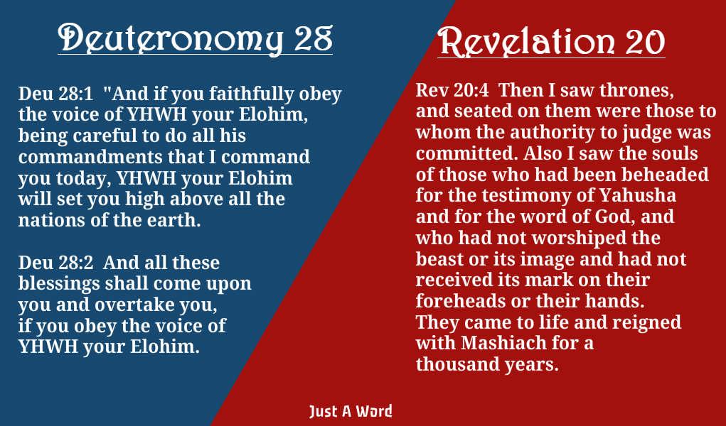 Revelation 20- Deuteronomy 28