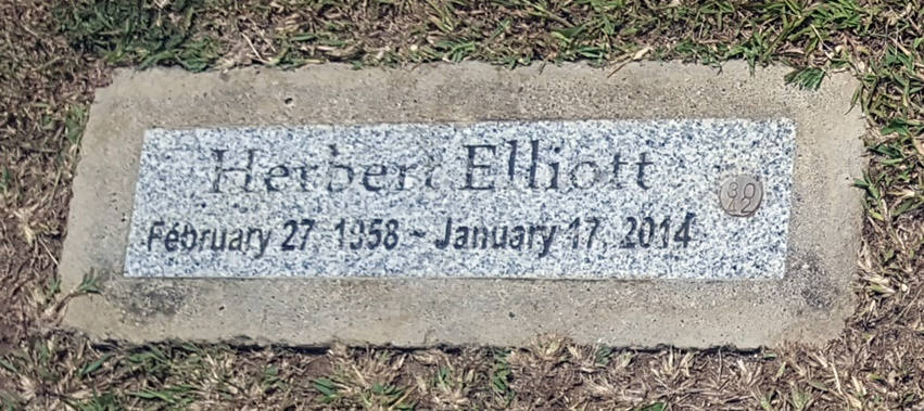 sign headstone herbert elliott