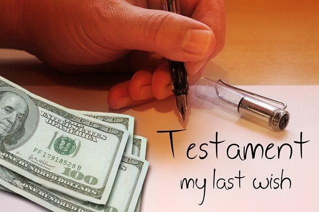 inheritance-testament-us dollars