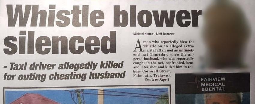 whistle blower - newspaper