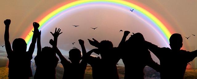 united nations people rainbow