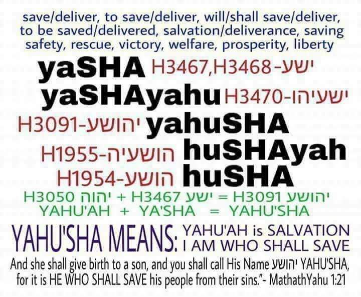meaning of Yahusha