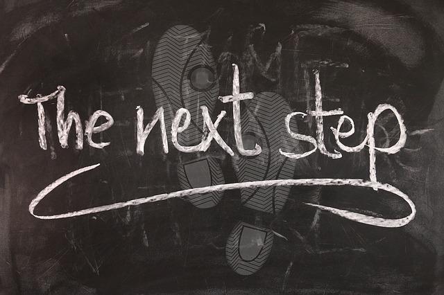 follow the next step