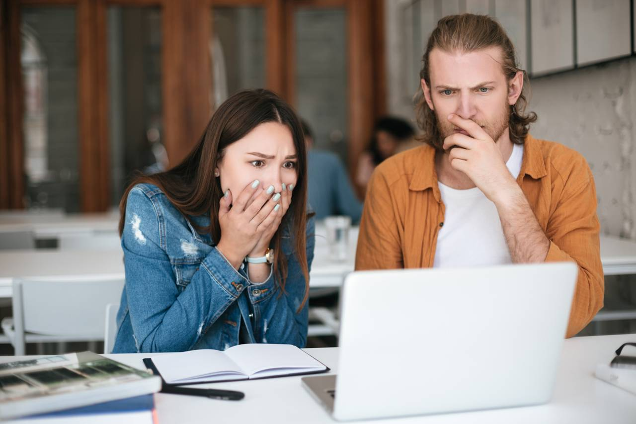 gentiles have inherited lies - shocked woman and man