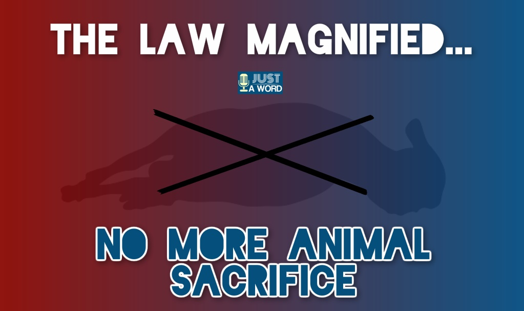 No more animal sacrifice