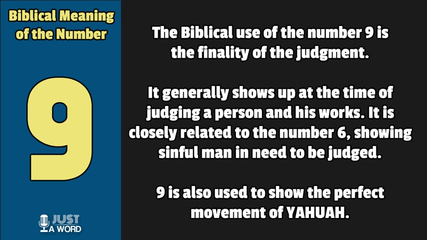 Biblical Numerology number 9