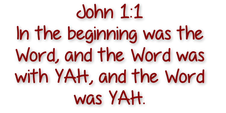 John 1 - in the beginning was the word