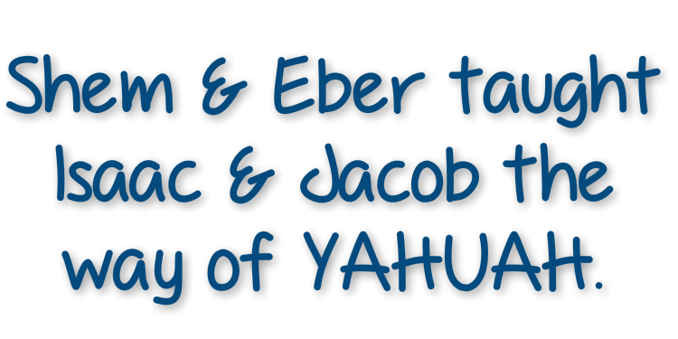 Shem and eber Taught Isaac and Jacob