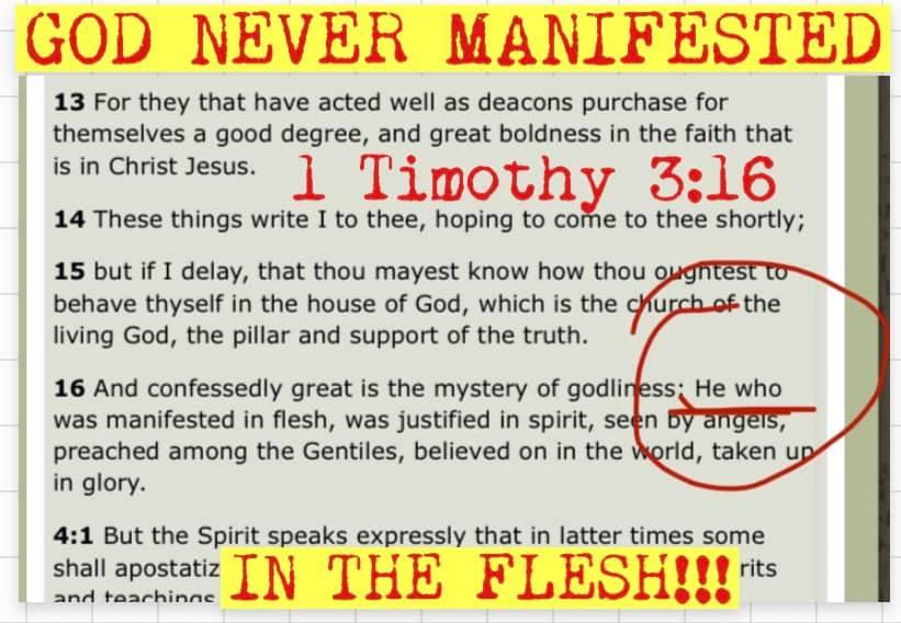 1 Timothy 3-16 - codex siniticus